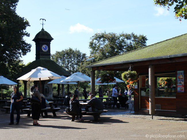 Cafe at Diana Memorial Playground Kensington Gardens London