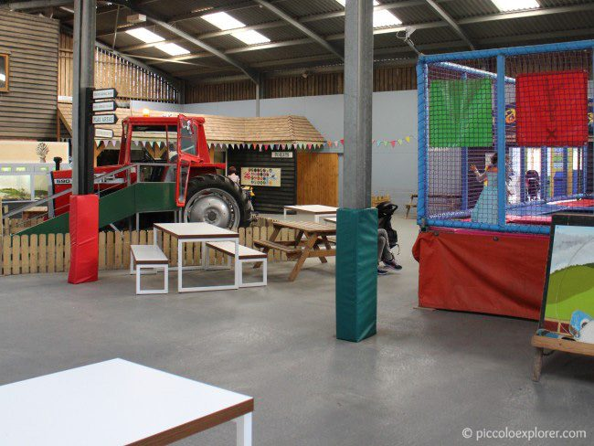 Indoor play area at Bocketts Farm Park Surrey