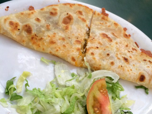 Kid's Meal Quesadilla at The Old Town Mexican Cafe