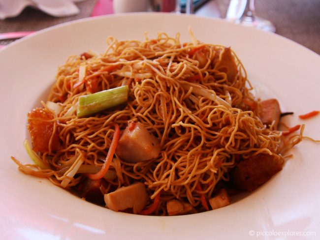Fried Noodles with Chicken at Royal Hawaiian Surf Lanai