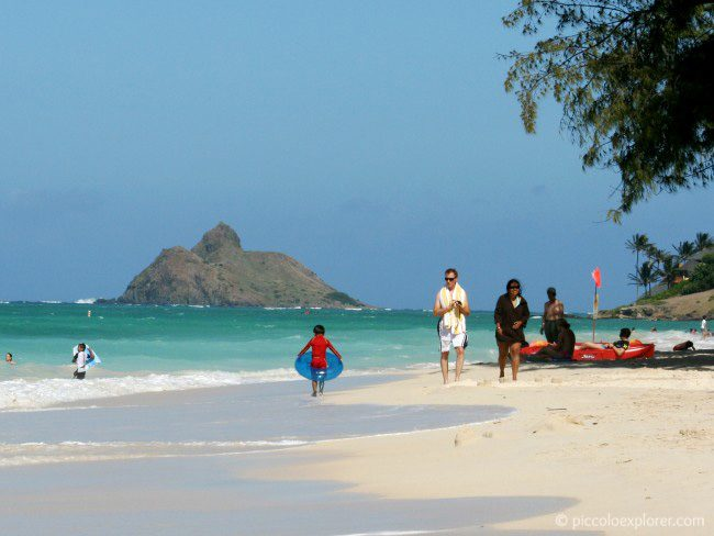 View of Moku Nui from Kailua Beach Oahu