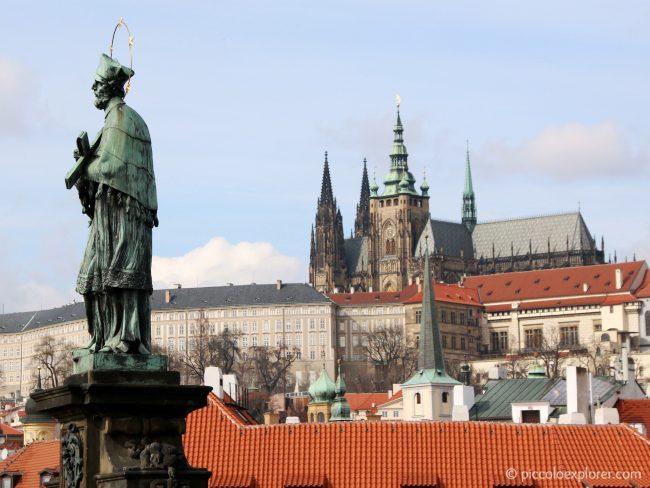John of Nepomuk Statue on Charles Bridge Prague