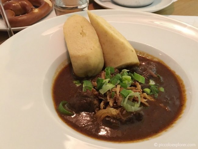 Czech goulash at Mincovna Restaurant Prague Old Town Square