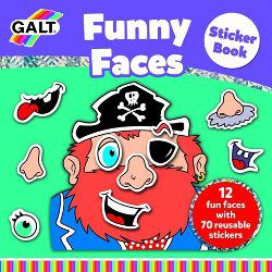 Activity Books - Galt Funny Faces Sticker Book