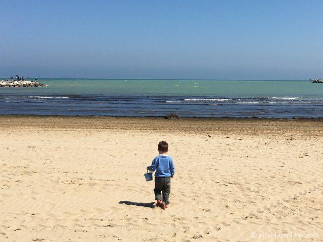 Lido Uno Beach, Fano in Spring