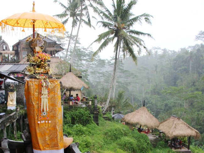 Hindu offering shrine at Tegalalang Rice Terrace