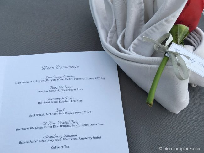 Non-Seafood Menu at Tirtha Dining Uluwatu