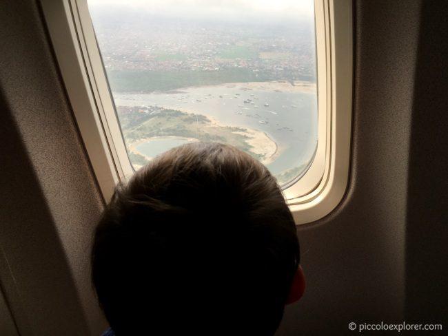 View leaving Bali Indonesia