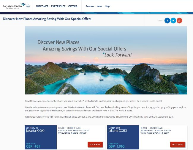 Flying with Garuda Indonesia - Special Promotion