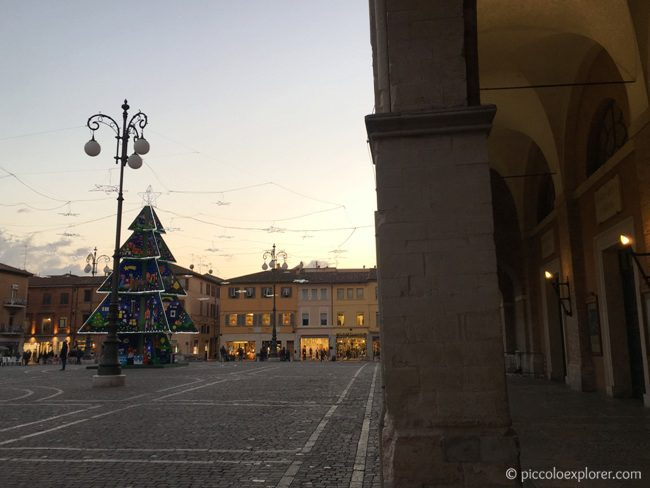 Christmas tree in Fano, Italy