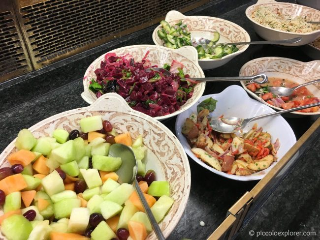 Salads at The Crystal Palace Lunch with Pooh + Friends Buffet, Magic Kingdom