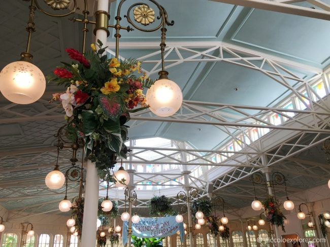 Beautiful interior at Crystal Palace, Magic Kingdom