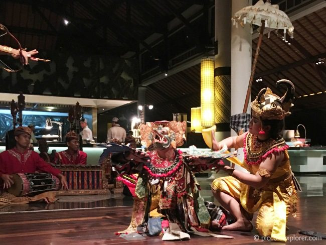 Balinese play performance, Padma Resort Legian