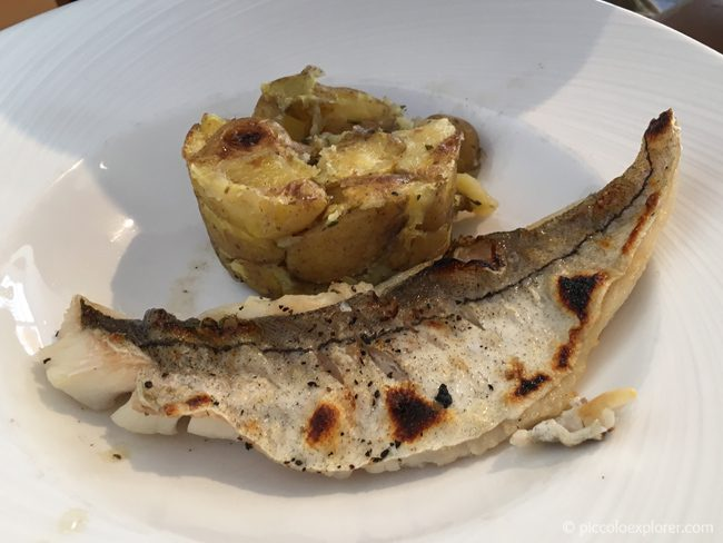 Grilled fish, Seafood Cafe, St Ives, Cornwall