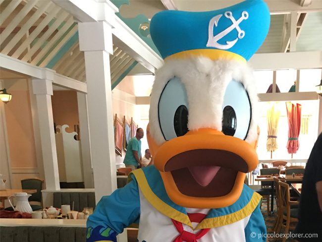 Donald Duck at Cape May Cafe Character Breakfast