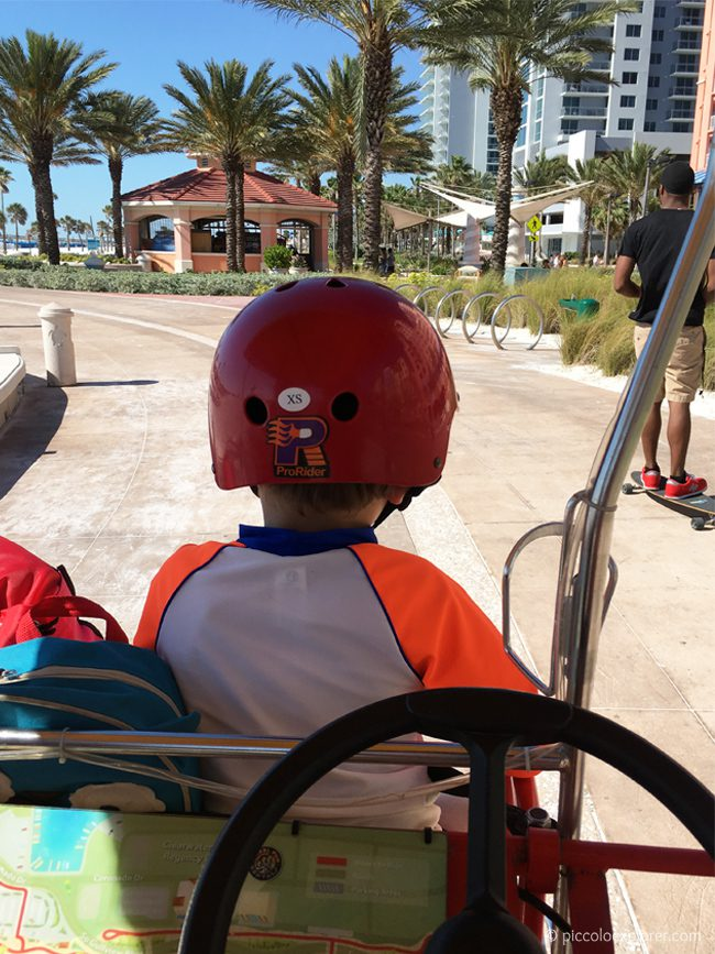 Riding a surrey bike at Clearwater Beach, Florida
