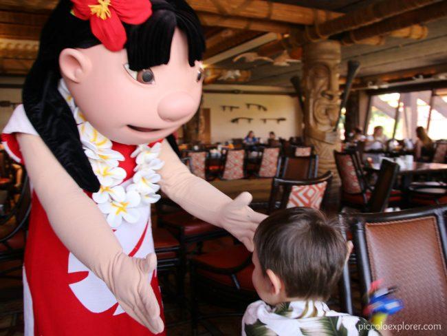 Lilo at 'Ohana Character Breakfast, Polynesian Village Resort, Walt Disney World