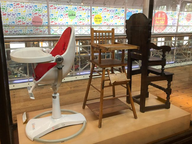 Nursery furniture at the V&A Museum of Childhood